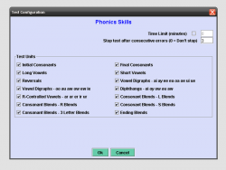 Diagnostic Phonics Test screenshot