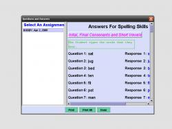 Diagnostic Spelling Test screenshot
