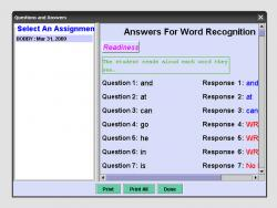 Graded Word Recognition Test screenshot