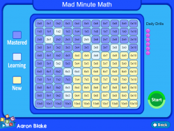 Mad Minute Math screenshot